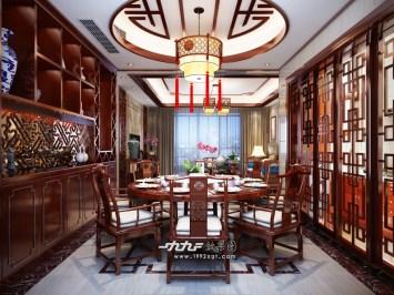 不错的新中式家装全套720°全景效果图